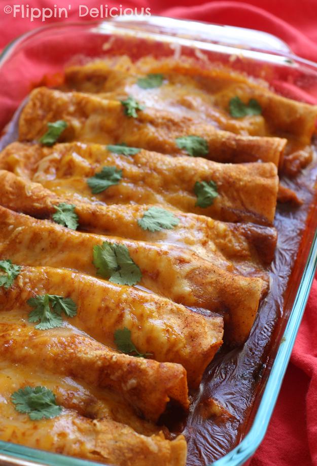 Gluten-Free Microwave Enchiladas