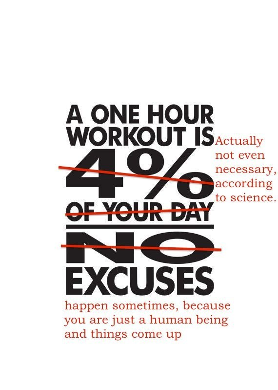 That time fitspo made you think that the only legit or meaningful workouts take an HOUR of your time.