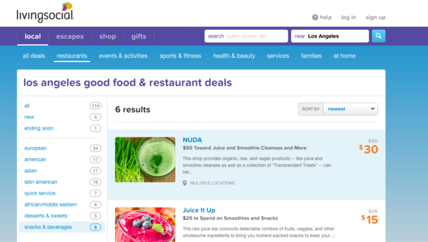 Download daily deal apps to save money on area eateries with healthy options.