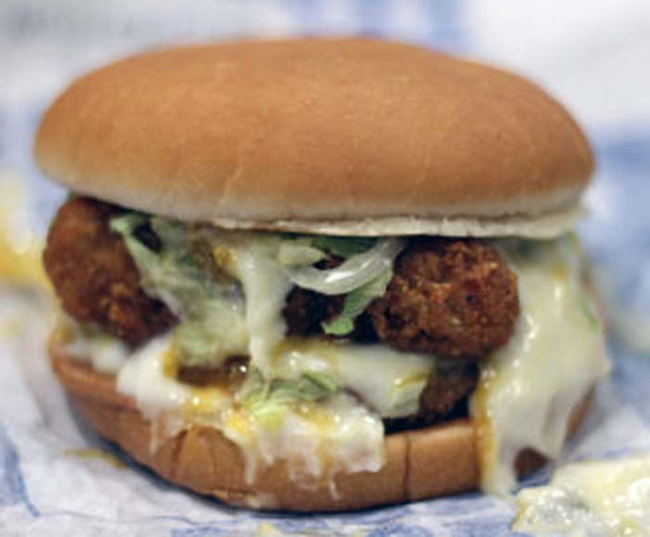 9.) Jack In The Box Exploding Cheesy Chicken Sandwich.