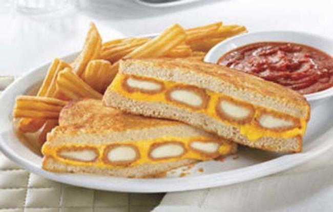 16.) Denny's Fried Cheese Melt.