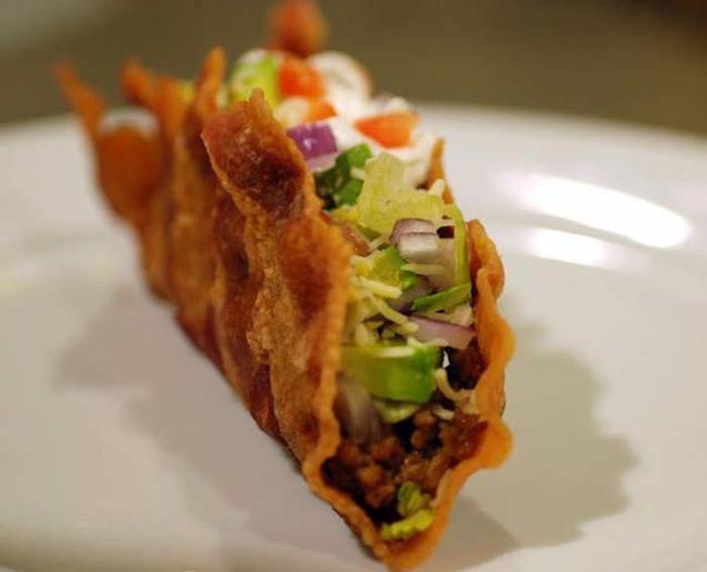 15.) The Bacon Taco.