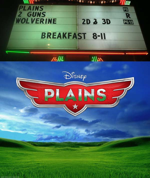 "5.) Disney's new movie, ""Plains"""