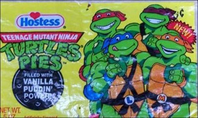 14.) Teenage Mutant Ninja Turtles Pies.