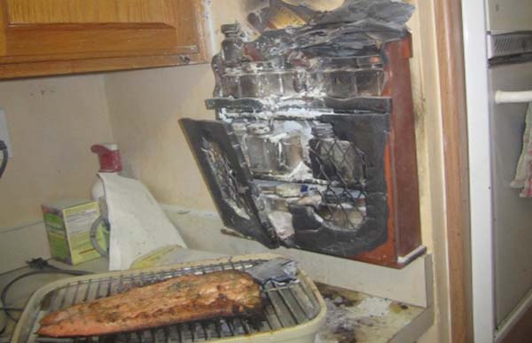 14.) When cooking, please avoid burning down the house.