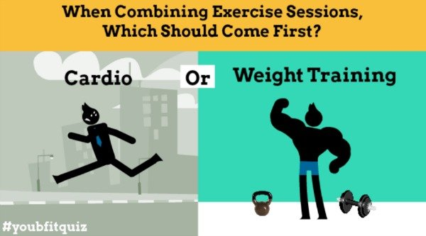 When Combining Exercise Sessions, Which Should Come First?