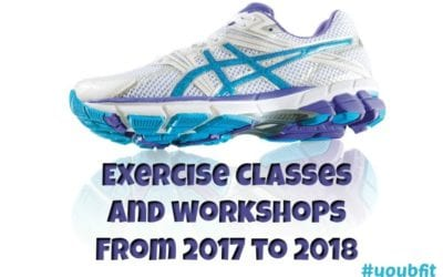 Fitness And Nutrition Classes I Have Coming Up 2017 – 2018